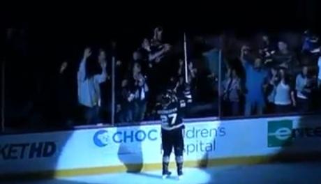 Couple A Quacks Fight Over Niedermayer's Hockey Stick (video)